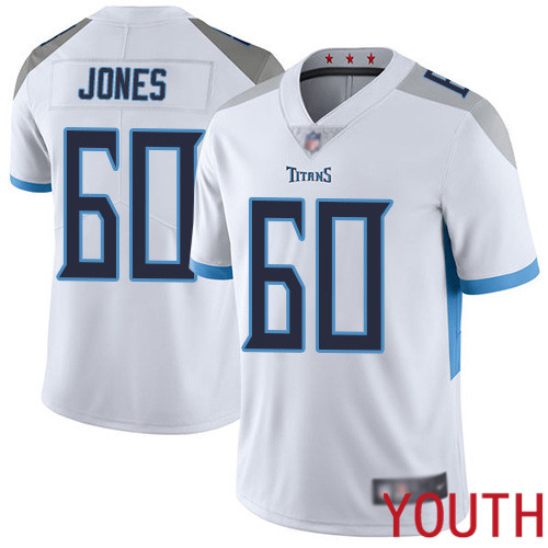 Tennessee Titans Limited White Youth Ben Jones Road Jersey NFL Football 60 Vapor Untouchable