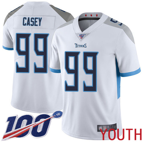 Tennessee Titans Limited White Youth Jurrell Casey Road Jersey NFL Football 99 100th Season Vapor Untouchable