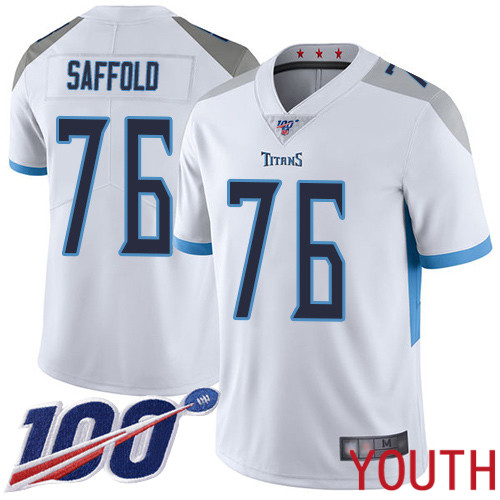 Tennessee Titans Limited White Youth Rodger Saffold Road Jersey NFL Football 76 100th Season Vapor Untouchable