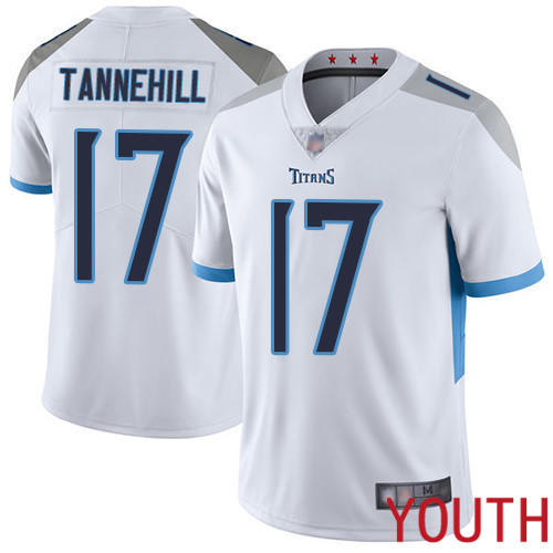 Tennessee Titans Limited White Youth Ryan Tannehill Road Jersey NFL Football 17 Vapor Untouchable