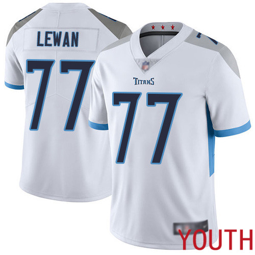 Tennessee Titans Limited White Youth Taylor Lewan Road Jersey NFL Football 77 Vapor Untouchable