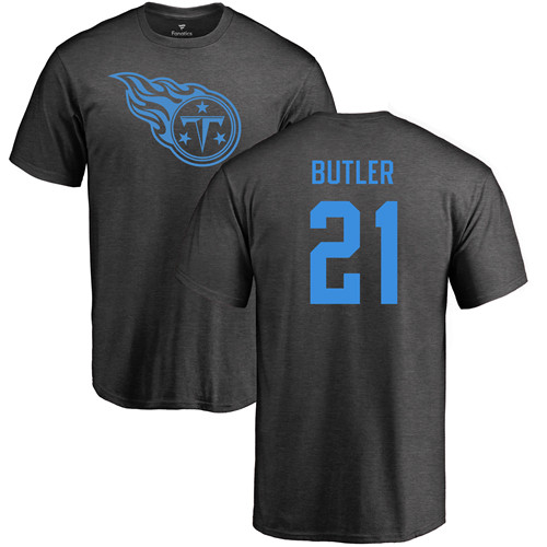 Tennessee Titans Men Ash Malcolm Butler One Color NFL Football 21 T Shirt