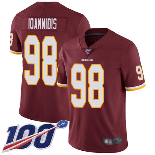 Washington Redskins Limited Burgundy Red Men Matt Ioannidis Home Jersey NFL Football 98 100th