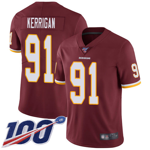Washington Redskins Limited Burgundy Red Men Ryan Kerrigan Home Jersey NFL Football 91 100th