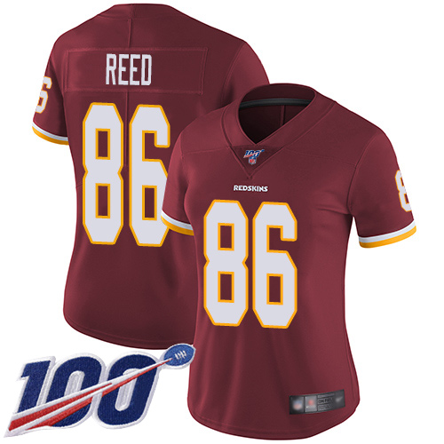 Washington Redskins Limited Burgundy Red Women Jordan Reed Home Jersey NFL Football 86 100th