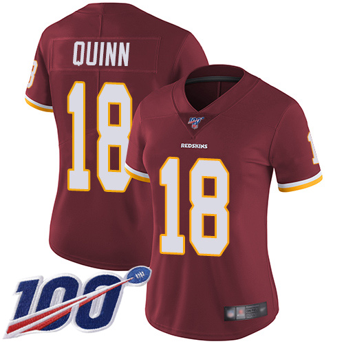 Washington Redskins Limited Burgundy Red Women Trey Quinn Home Jersey NFL Football 18 100th Season