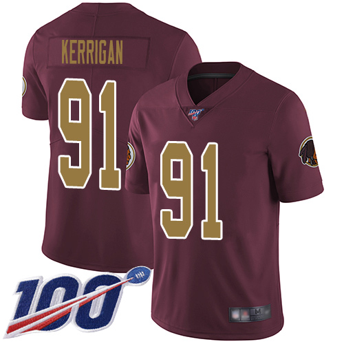 Washington Redskins Limited Burgundy Red Youth Ryan Kerrigan Alternate Jersey NFL Football 91 100th