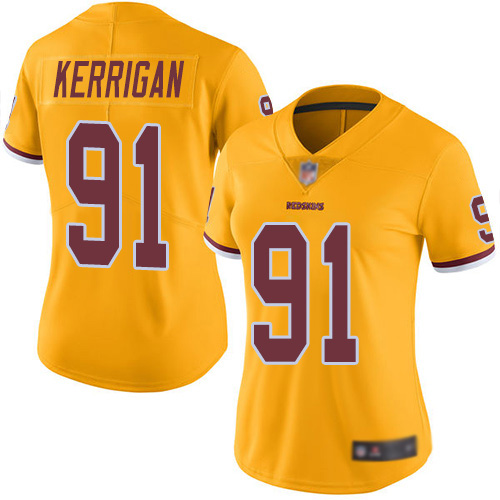 Washington Redskins Limited Gold Women Ryan Kerrigan Jersey NFL Football 91 Rush Vapor