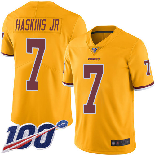 Washington Redskins Limited Gold Youth Dwayne Haskins Jersey NFL Football 7 100th Season Rush