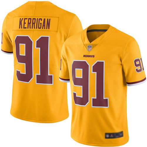 Washington Redskins Limited Gold Youth Ryan Kerrigan Jersey NFL Football 91 Rush Vapor Untouchable