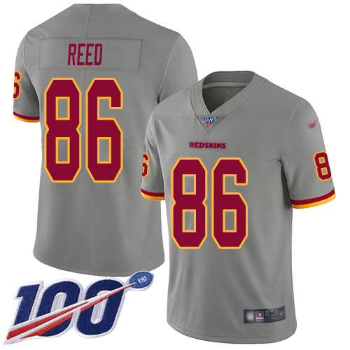 Washington Redskins Limited Gray Men Jordan Reed Jersey NFL Football 86 100th Season Inverted