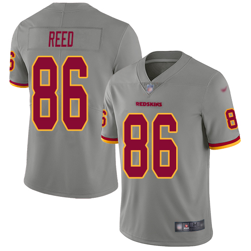 Washington Redskins Limited Gray Men Jordan Reed Jersey NFL Football 86 Inverted Legend
