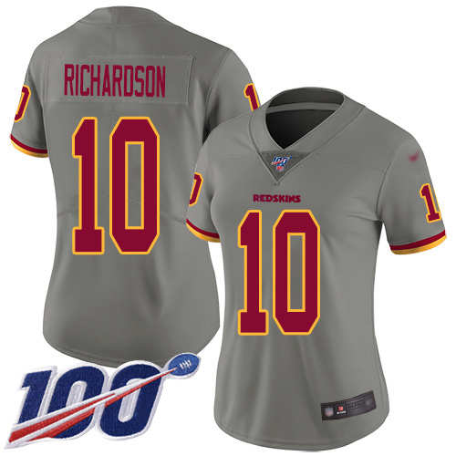 Washington Redskins Limited Gray Women Paul Richardson Jersey NFL Football 10 100th Season