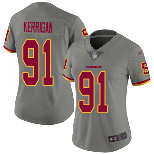 Washington Redskins Limited Gray Women Ryan Kerrigan Jersey NFL Football 91 Inverted Legend