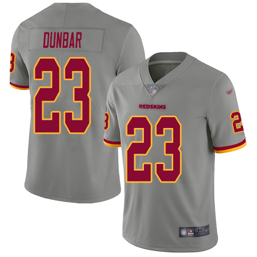 Washington Redskins Limited Gray Youth Quinton Dunbar Jersey NFL Football 23 Inverted Legend