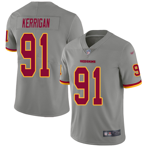 Washington Redskins Limited Gray Youth Ryan Kerrigan Jersey NFL Football 91 Inverted Legend