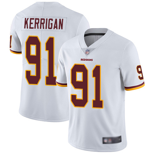 Washington Redskins Limited White Youth Ryan Kerrigan Road Jersey NFL Football 91 Vapor Untouchable