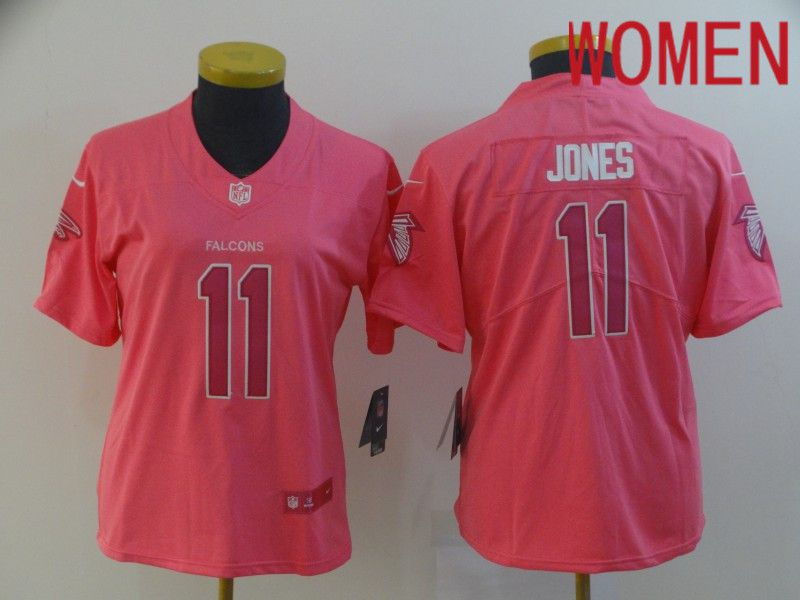 Women Atlanta Falcons 11 Jones Pink Nike Vapor Untouchable Limited Player NFL Jerseys
