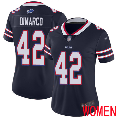Women Buffalo Bills 42 Patrick DiMarco Limited Navy Blue Inverted Legend NFL Jersey