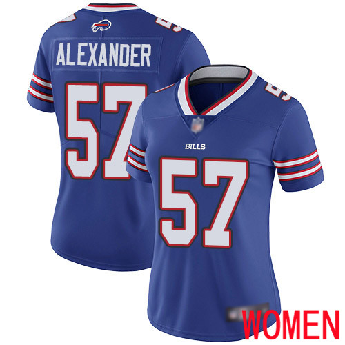 Women Buffalo Bills 57 Lorenzo Alexander Royal Blue Team Color Vapor Untouchable Limited Player NFL Jersey