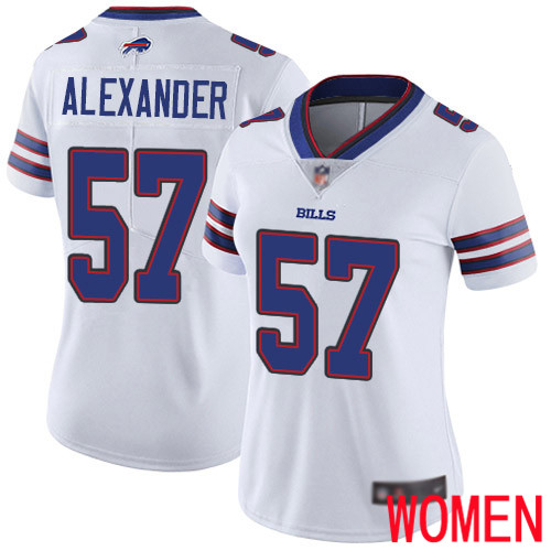 Women Buffalo Bills 57 Lorenzo Alexander White Vapor Untouchable Limited Player NFL Jersey