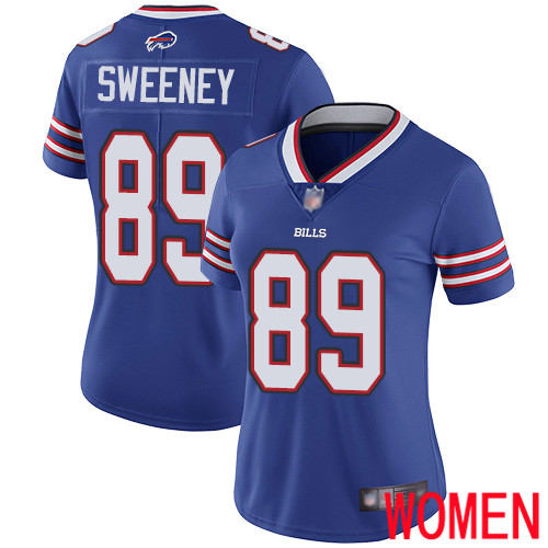 Women Buffalo Bills 89 Tommy Sweeney Royal Blue Team Color Vapor Untouchable Limited Player NFL Jersey