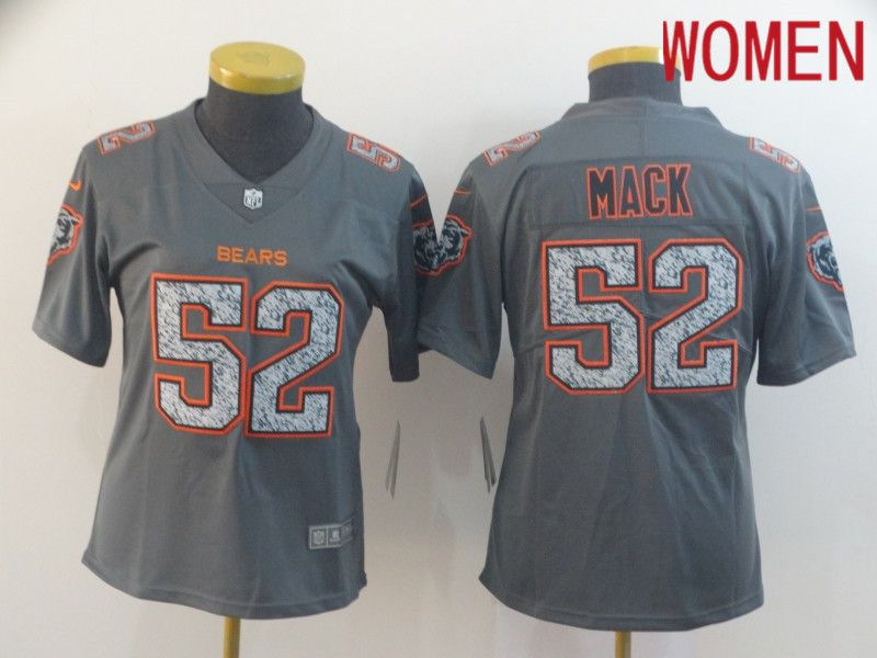 Women Chicago Bears 52 Mack Nike Teams Gray Fashion Static Limited NFL Jerseys