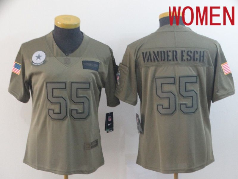 Women Dallas cowboys 55 Vander esch Nike Camo 2019 Salute to Service Limited NFL Jerseys