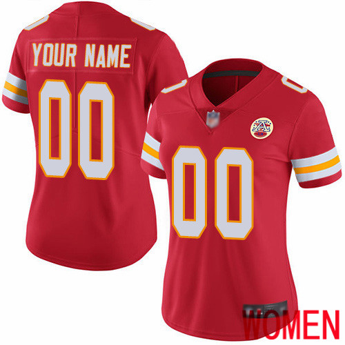 Women Kansas City Chiefs Customized Red Team Color Vapor Untouchable Custom Limited Football Jersey