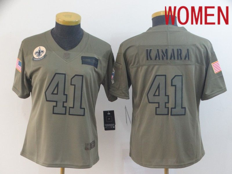 Women New Orleans Saints 41 Kamara Nike Camo 2019 Salute to Service Limited NFL Jerseys