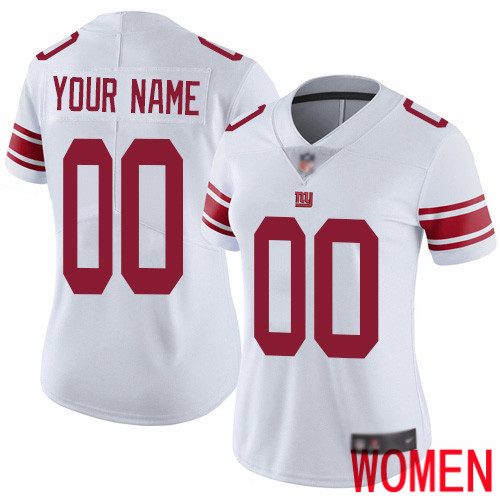 Women New York Giants Customized White Vapor Untouchable Custom Limited Football Jersey