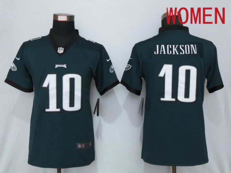 Women Philadelphia Eagles 10 Jackson Green 2019 Nike Vapor Untouchable Elite Playe NFL Jerseys