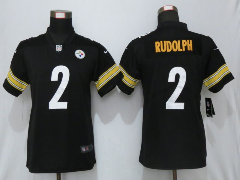 Women Pittsburgh Steelers 2 Rudolph Black Nike 2019 Vapor Untouchable Elite Player