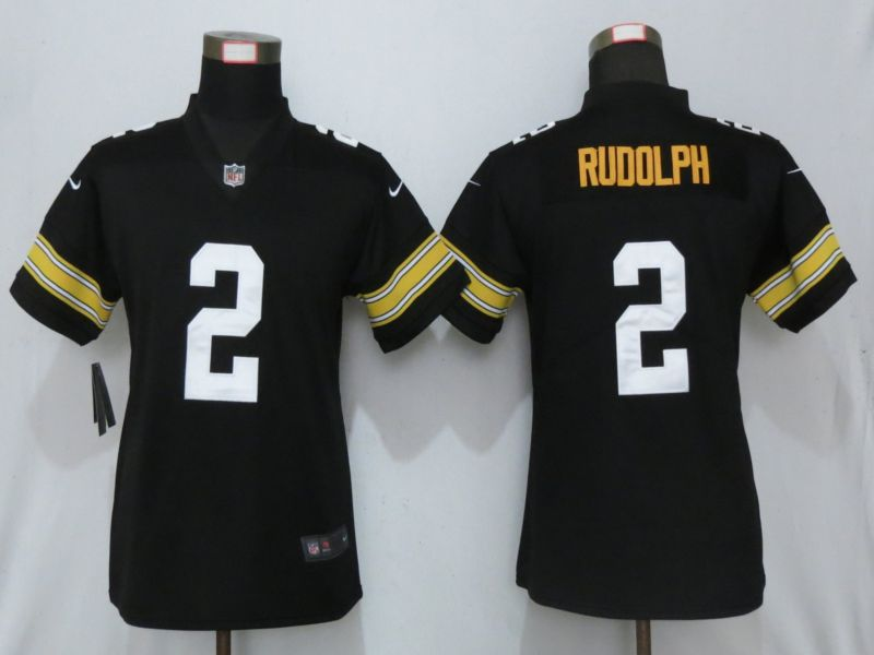 Women Pittsburgh Steelers 2 Rudolph Nike Black Alternate Elite Jersey