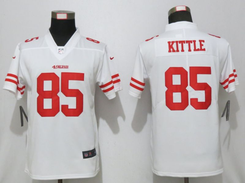 Women San Francisco 49ers 85 Kittle White Nike 2019 Vapor Untouchable Elite Player