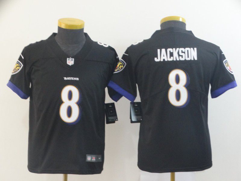 Youth Baltimore Ravens 8 Jackson Black Nike Vapor Untouchable Limited Player NFL Jerseys