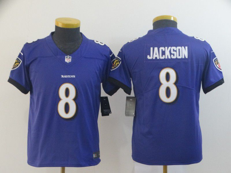 Youth Baltimore Ravens 8 Jackson Purple Nike Vapor Untouchable Limited Player NFL Jerseys