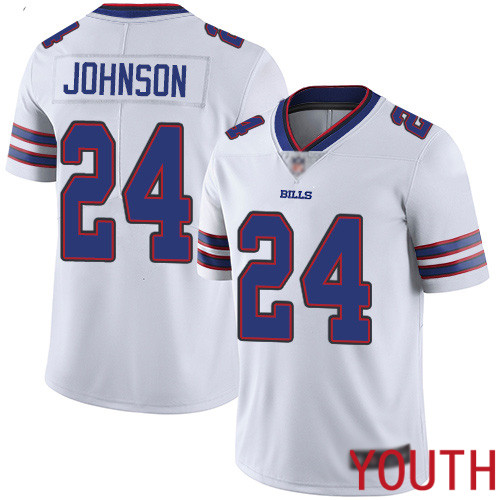 Youth Buffalo Bills 24 Taron Johnson White Vapor Untouchable Limited Player NFL Jersey