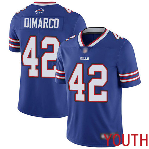 Youth Buffalo Bills 42 Patrick DiMarco Royal Blue Team Color Vapor Untouchable Limited Player NFL Jersey