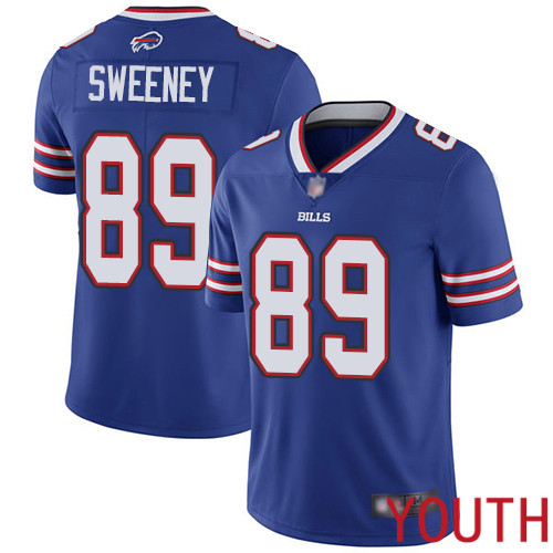 Youth Buffalo Bills 89 Tommy Sweeney Royal Blue Team Color Vapor Untouchable Limited Player NFL Jersey