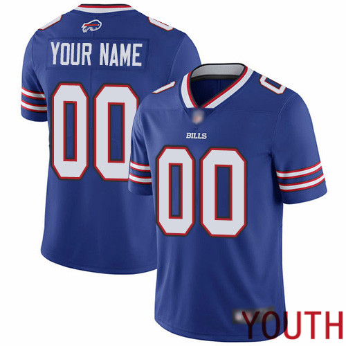 Youth Buffalo Bills Customized Royal Blue Team Color Vapor Untouchable Custom Limited Football Jersey
