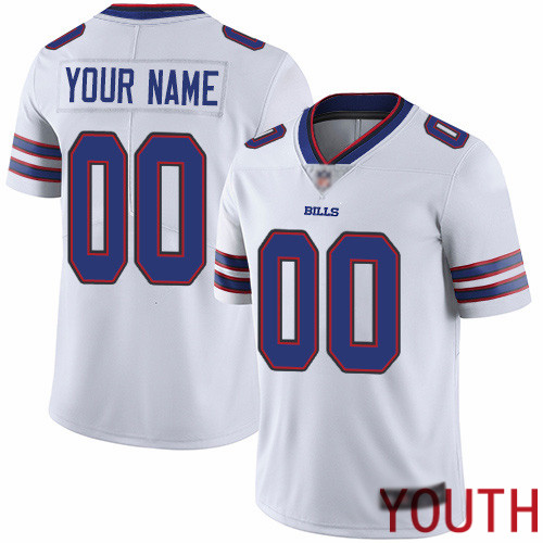 Youth Buffalo Bills Customized White Vapor Untouchable Custom Limited Football Jersey