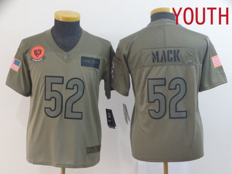 Youth Chicago Bears 52 Mack Nike Camo 2019 Salute to Service Limited NFL Jerseys