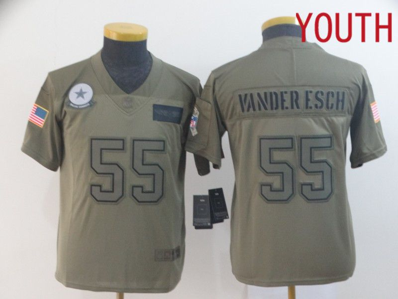 Youth Dallas cowboys 55 Vander esch Nike Camo 2019 Salute to Service Limited NFL Jerseys