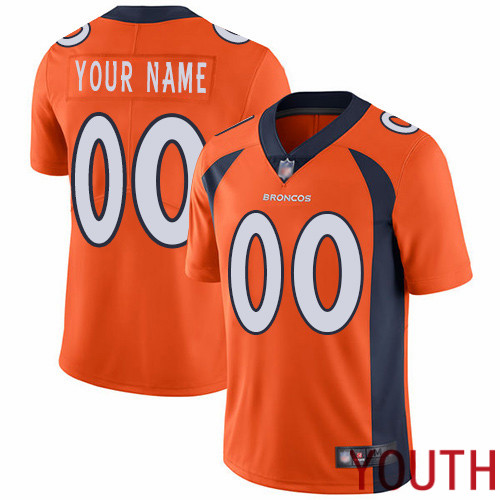 Youth Denver Broncos Customized Orange Team Color Vapor Untouchable Custom Limited Football Jersey