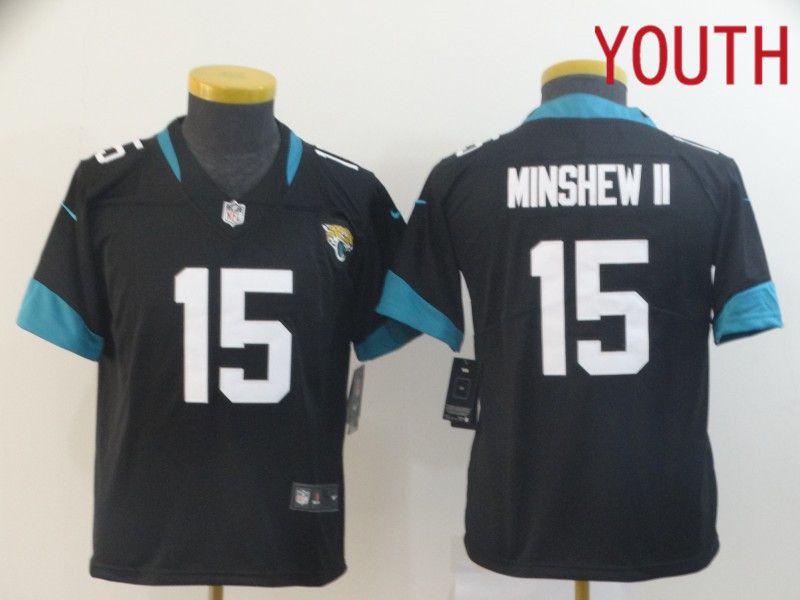 Youth Jacksonville Jaguars 15 Minshew ii Black Nike Vapor Untouchable Limited Player NFL Jerseys