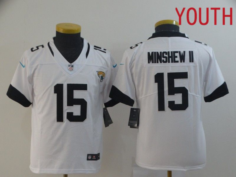 Youth Jacksonville Jaguars 15 Minshew ii White Nike Vapor Untouchable Limited Player NFL Jerseys