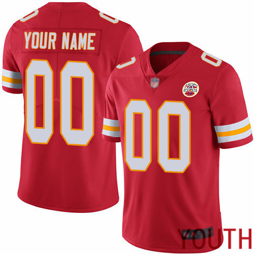 Youth Kansas City Chiefs Customized Red Team Color Vapor Untouchable Custom Limited Football Jersey