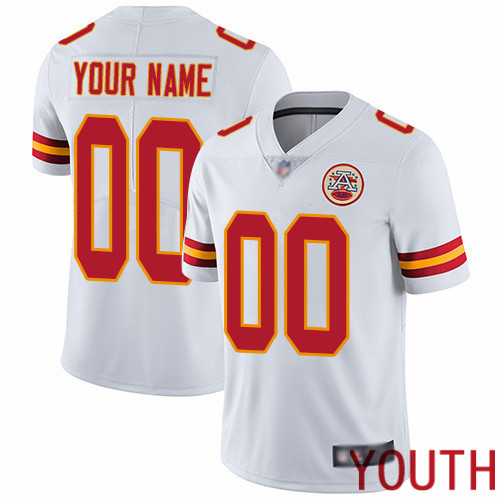 Youth Kansas City Chiefs Customized White Vapor Untouchable Custom Limited Football Jersey