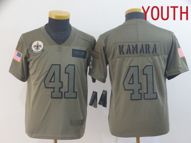Youth New Orleans Saints 41 Kamara Nike Camo 2019 Salute to Service Limited NFL Jerseys